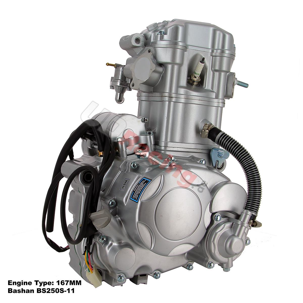 motor komplett 167mm f r quad bashan 250 ccm bs250s 11 motor ersatzteile bashan 250cc. Black Bedroom Furniture Sets. Home Design Ideas