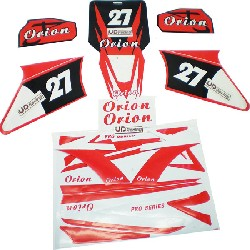 Dekor-Kit dirt bike AGB27, rot